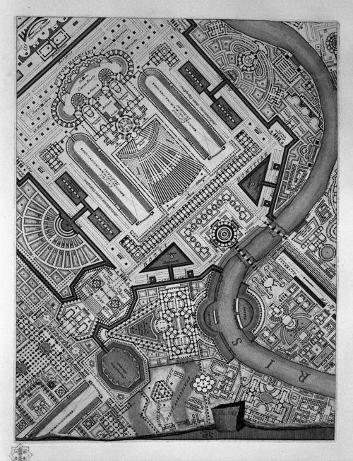 Ichnographia of the Campo Marzio_Giovanni Battista Piranesi_1762