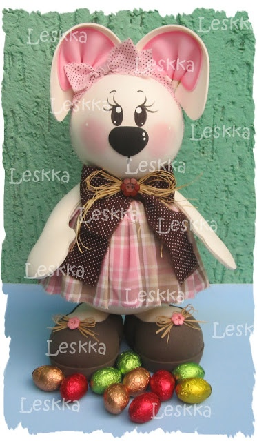 Leskka - Arte em e.v.a  bunny, easter, páscoa, coelhinha