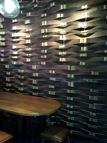 Wine Barrel Stave Wall
