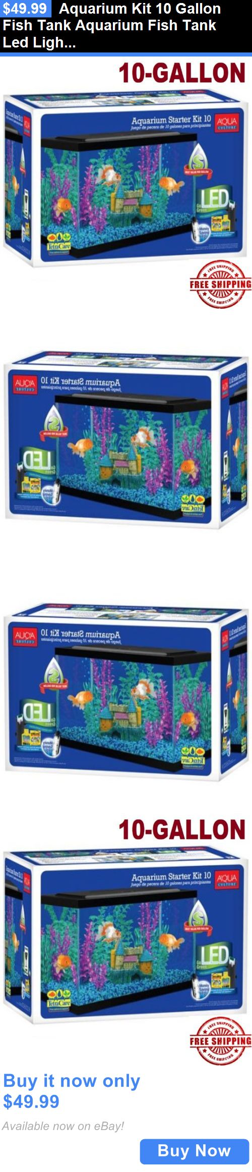Fish tank heater 10 gallon - Animals Fish And Aquariums Aquarium Kit 10 Gallon Fish Tank Aquarium Fish Tank Led Light