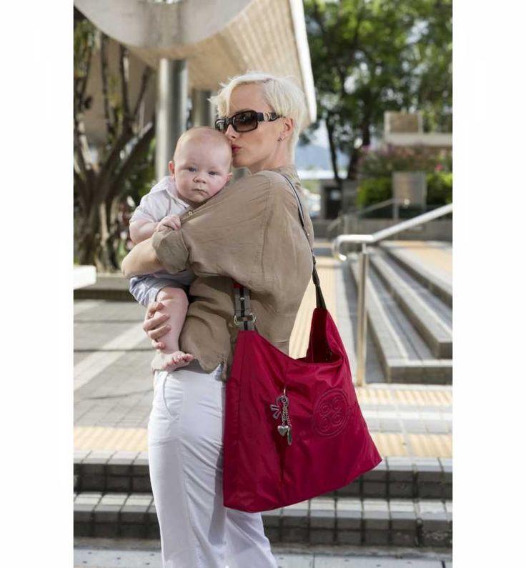 Okiedog Luxe Line Juno Anne Bebek Bakım Çantası Kırmızı