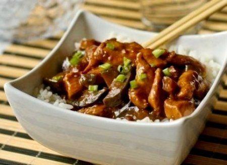 Курица с баклажанами «По-китайски»