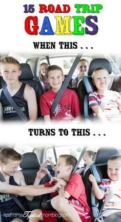 15 Road Trip Games For Kids (great for the long drive to Disney World).