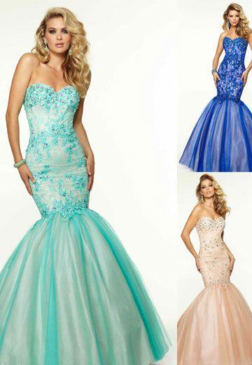 Stunning mermaid style prom dresses