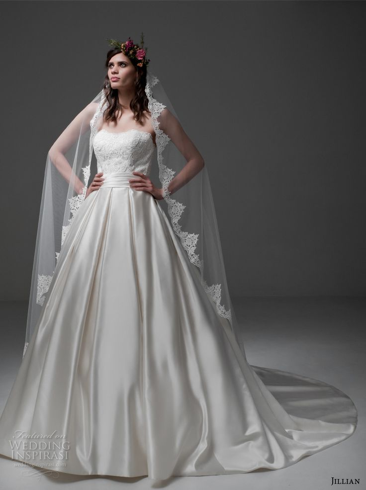 720 best images about ball gown a line princess wedding for A line wedding dress with pockets