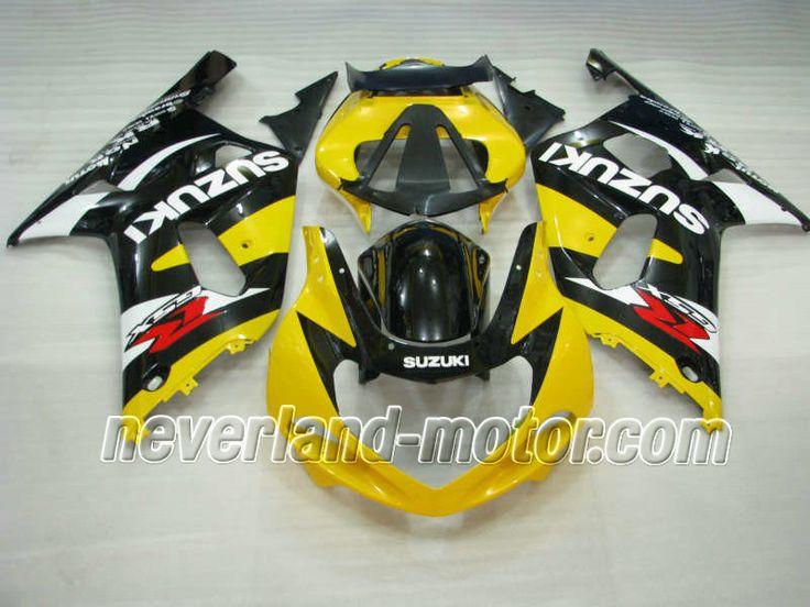 SUZUKI GSX-R 600/750 2001-2003 K1,K2 ABS Fairing - Yellow/Black/White #2003gsxr750fairings #03gsxr750fairings