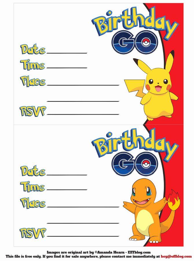pokemon birthday invitations online free