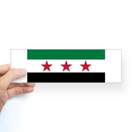 Pre-1963 Flag of Syria Bumper Sticker & Symbol of Current Uprising!