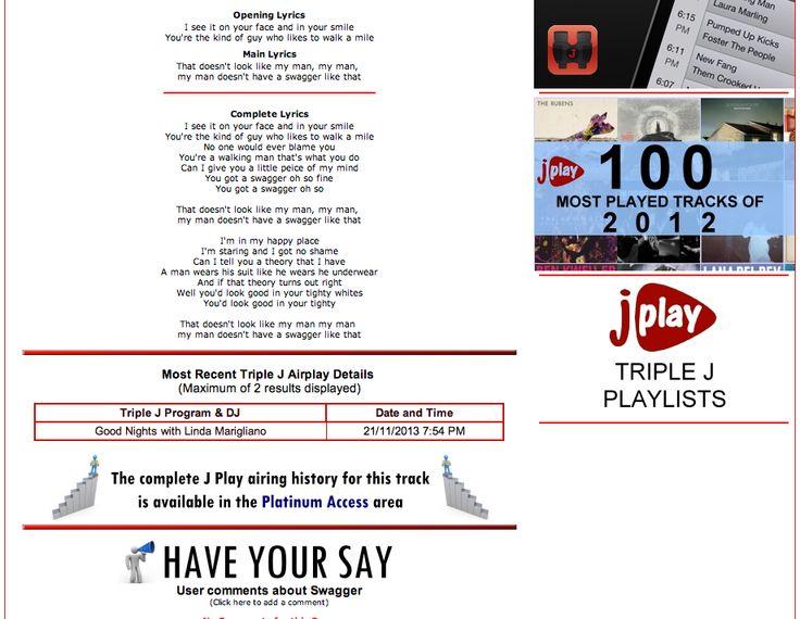 Jplay - Triple J Airplay listing
