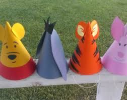 construction paper character hats
