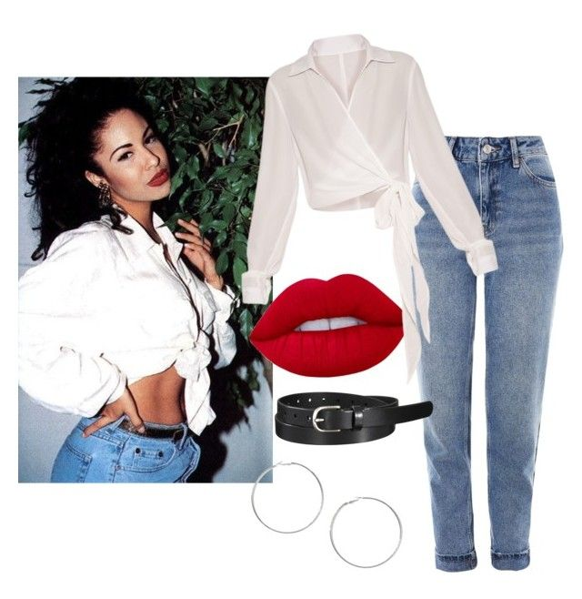 """""""Selena Quintanilla"""" by dakota-angele ❤ liked on Polyvore featuring Topshop, Miss Selfridge, Uniqlo and Lime Crime"""