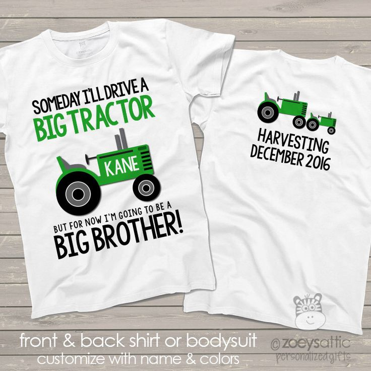 tractor big brother shirt perfect pregnancy announcement for the big brother to be by zoeysattic on Etsy https://www.etsy.com/listing/82579296/tractor-big-brother-shirt-perfect