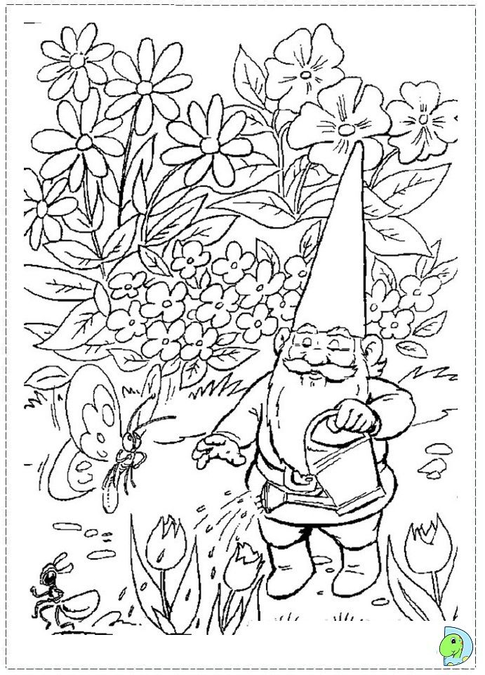 99 best lineart gnomes images on pinterest gnomes for Coloring pages gnomes