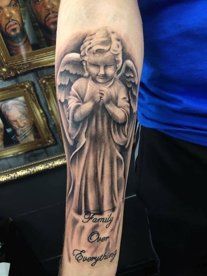 Best 25 cherub tattoo ideas on pinterest angels tattoo for Revival tattoo and piercing