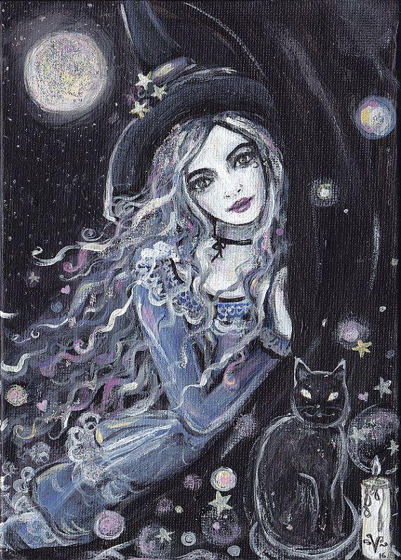 Night Magick by ArtbyLadyViktoria on Etsy