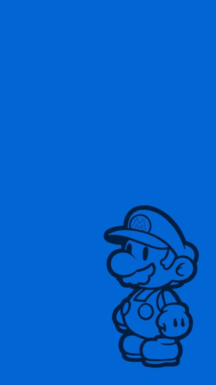 Paper Mario Minimal Wallpaper 720x1280 In 2020 Minimal Wallpaper Paper Mario Simple Backgrounds