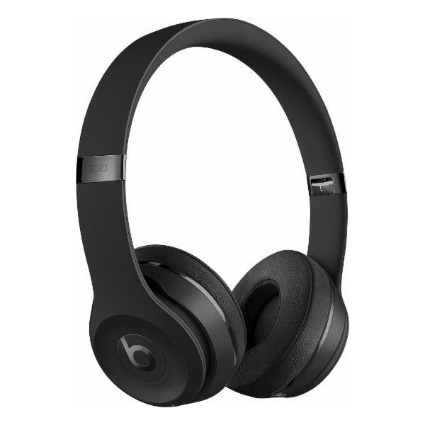 Beats by Dr. Dre Beats Solo3 Wireless Headphones Black ($300) ❤ liked on Polyvore featuring accessories and beats by dr. dre