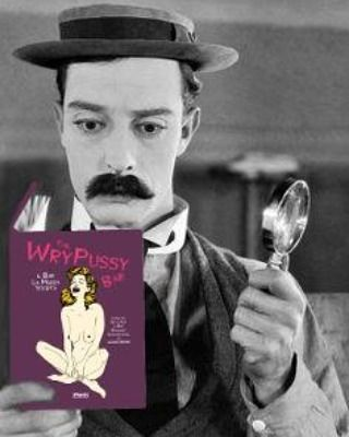 The wry pussy bar ● www.platoplato.com . . #thewrypussybar #ilbarlamozzastorta #busterkeaton #illustrationbook #graphicnovel #poetry #lucianoginesi #love