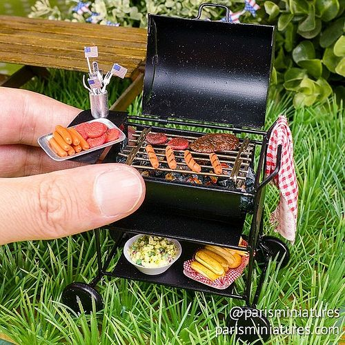 https://flic.kr/p/oaLUf9 | 4th July BBQ! 12th scale miniature | Originally listed at www.parisminiatures.etsy.com