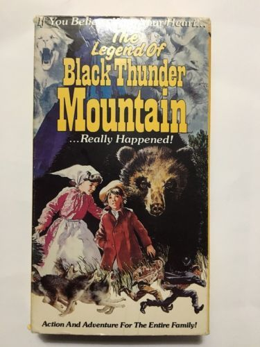 vhs the legend of black thunder mountain. . . really happened goodtimes release