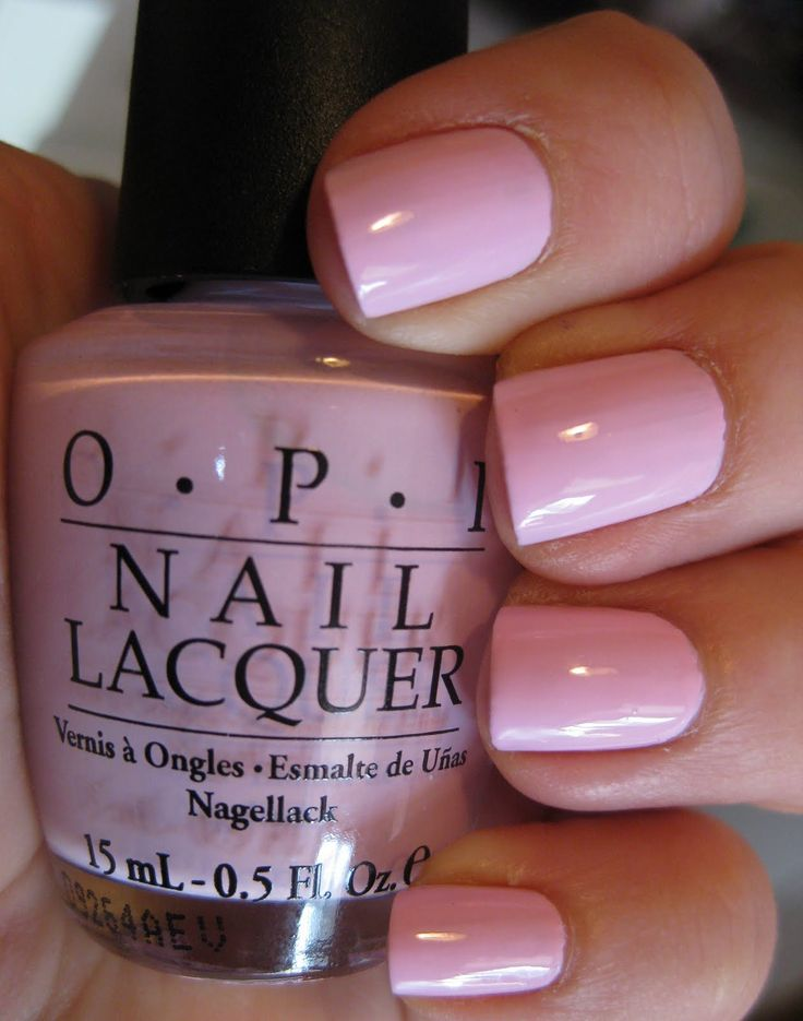 My roomate Allie wore this nail polish freshmen year and got me hooked. Mod About You OPI nail color.