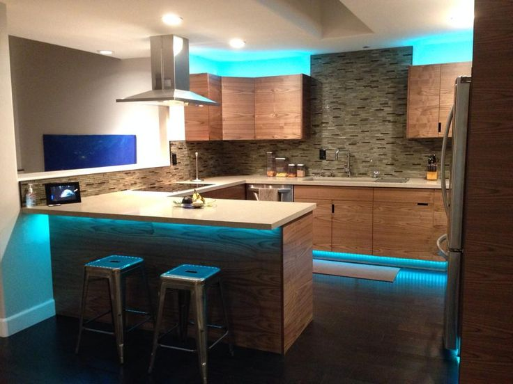 Led light strips are great for lighting up your kitchen for Kitchen led lighting