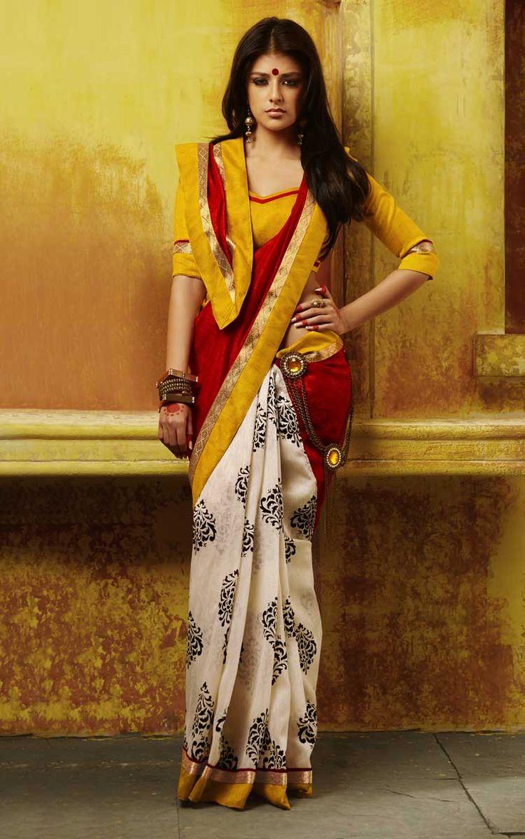 Buy pure #bhagalpuri #silk gorgeous #Indian designer #saree with #women   #clothing  store  #craftshopsindia