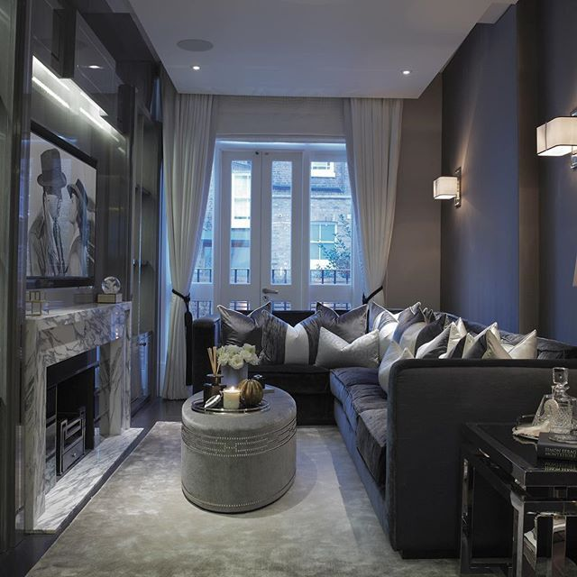 Family Room With Custom Joinery And Very Large And