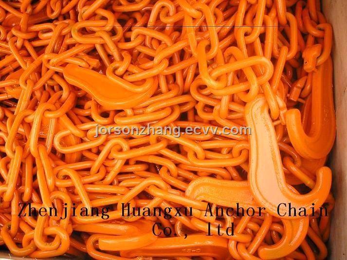 Lashing Chain (HXFC1380) (13*80) - China Grade 80 chain, lashing chain