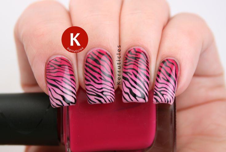 Gradient Pink Zebra Nails for NET Cancer Day 2015 | Kerruticles | Bloglovin'