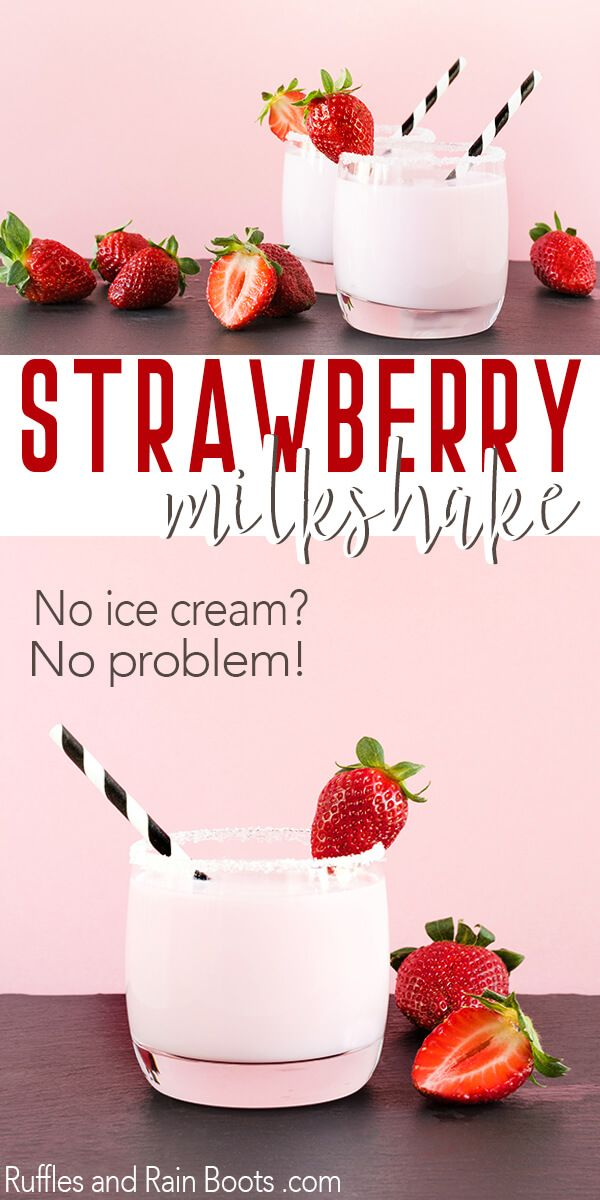 Make This Ridiculously Easy Strawberry Milkshake in 5 Minutes