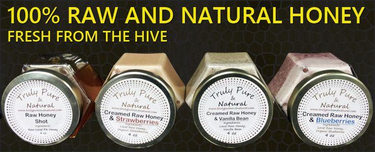 100% Raw and natural honey