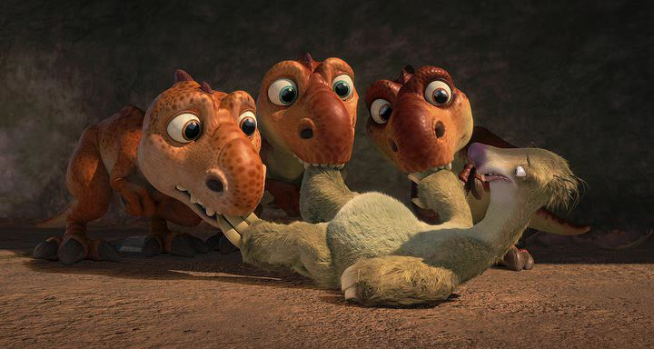 Image - Baby Dinos protecting Sid from mother.jpg | Ice ... |Ice Age 3 Baby Dinosaurs