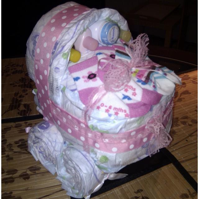 Make Diaper Cake Stroller