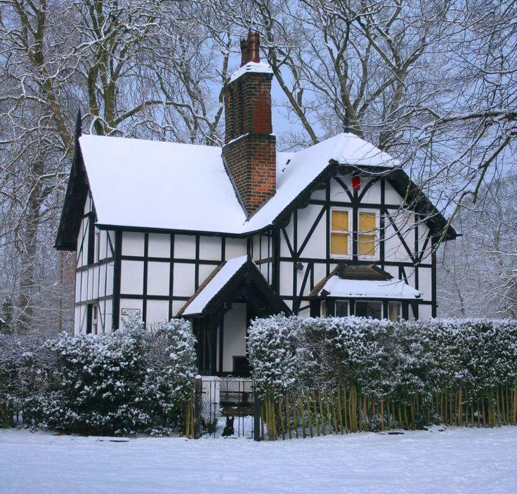 cottage in Sankey Valley Park, Warrington, Cheshire, England.