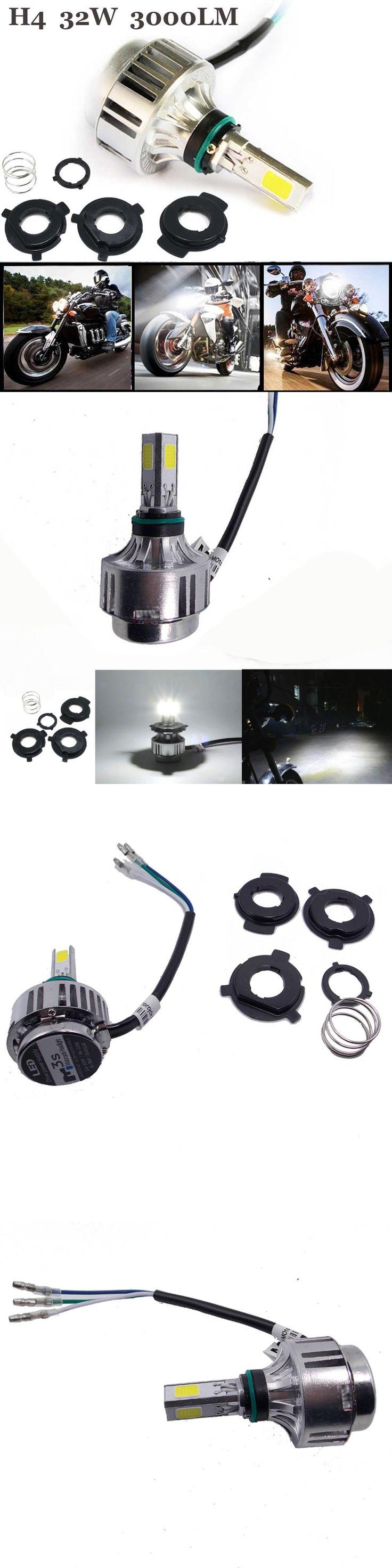 32W 3000LM Motorcycle H4 LED Headlight Bulb Flasher Moto Beam Fog Lamp For Cafe Racer Harley Honda Yamaha 12V HS1 Super Light