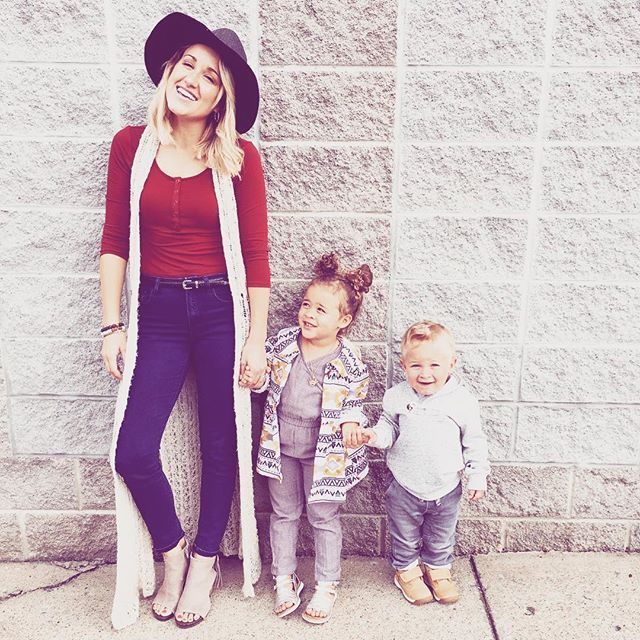 Britt Nicole and her kids