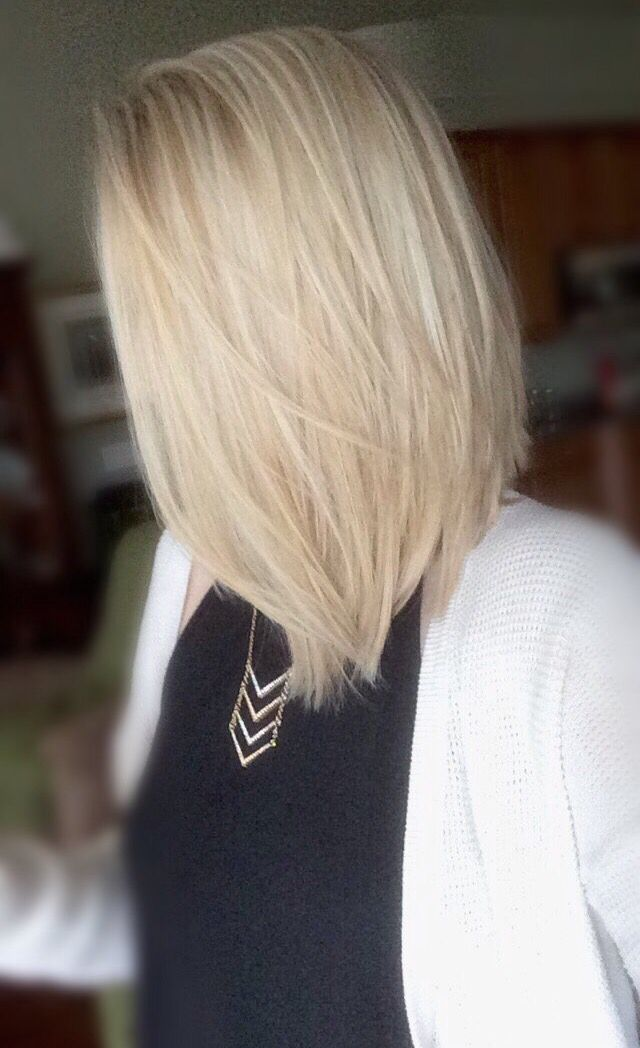 cool, icy blonde highlights