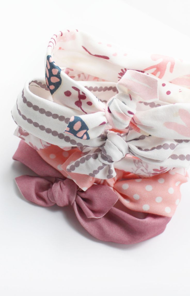 Trendy knotted baby headbands by LittleHighbury. Perfect gift for baby showers-- they come already wrapped in a box + ribbon!