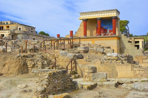 Minoan Palace of Knossos, close to Heraklion