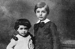 Einstein was slow in learning how to speak. His parents even consulted a doctor. He also had a cheeky rebelliousness toward authority, which led one headmaster to expel him and another to amuse history by saying that he would never amount to much. But these traits helped make him a genius.  (A childhood portrait ot Albert Einstein and his sister, Maja. HULTON ARCHIVE/GETTY)