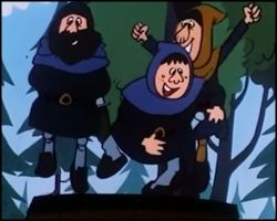 Bandidos felices por la derrota de Svelke / Vickie el Vikingo / Wickie und die starken Männer / 1974
