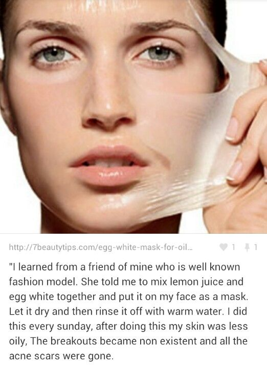 Acne mask. Beware the lemon acid might irritate the skin.