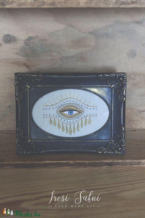 """""""Isten szeme"""" hímzett kép (ircsisufni) - Meska.hu"""