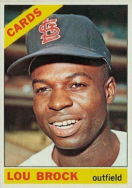 lou brock baseball cards | 1966 Topps Lou Brock #125 Baseball Card Value Price Guide