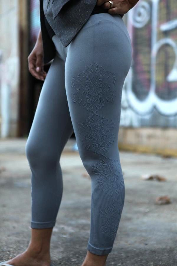 Blue Grey Leggings