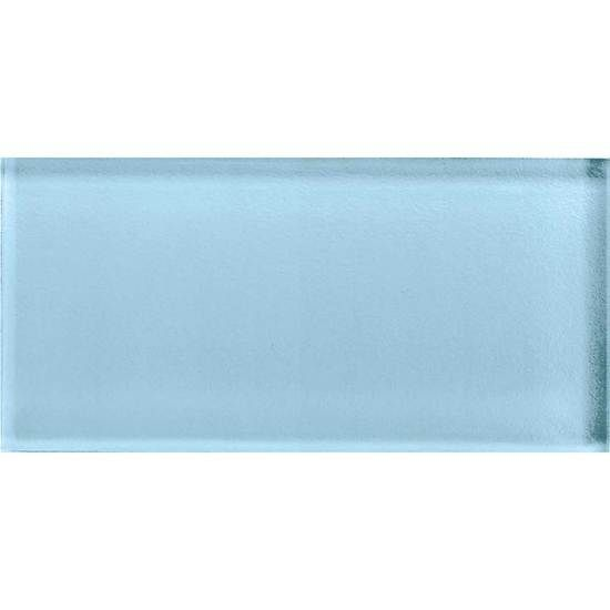 American Olean Color Appeal Glass – C109 Powder – 3X6 Brick Subway Glass Tile – Glossy