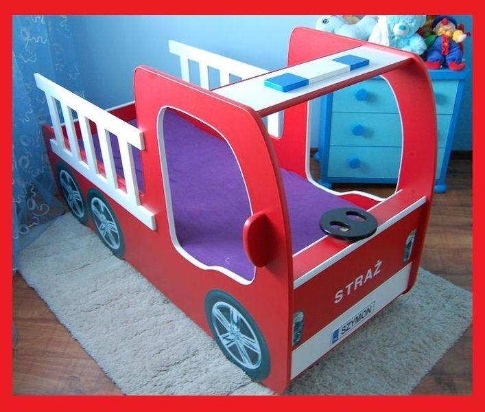 ŁÓŻKO SAMOCHÓD STRAŻ STRAŻACKI DLA DZIECI - sobieski_meble - Łóżka dla dzieci
