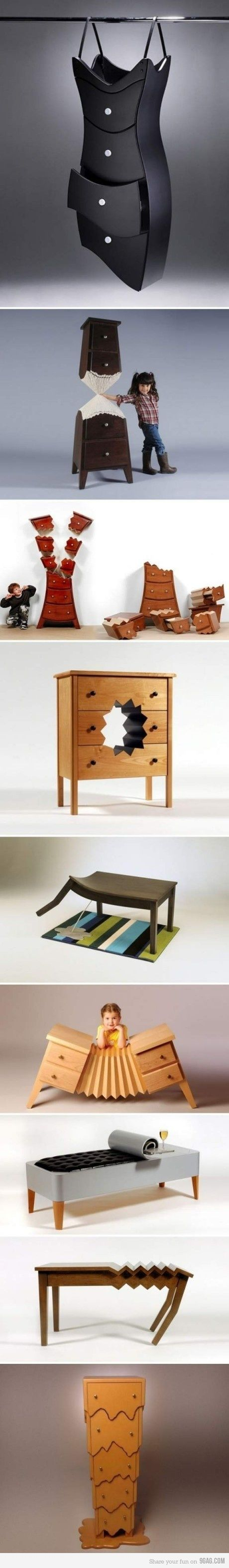 Fun Furniture, reminds me of Alice In Wonderland =)