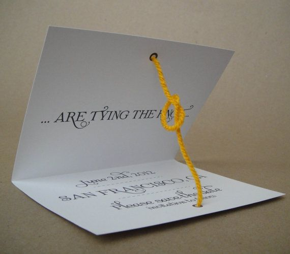 $1.75 for each tie-the-knot card & envelope. Printed on 110 lb white card stock with white 24 lb A2 envelope